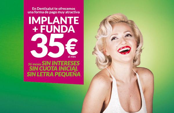 Implantes dentales desde 35€/mes