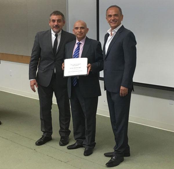 De izq. a der.: Dr. Cacciacane, Dr. Torres, Dr. Lozada